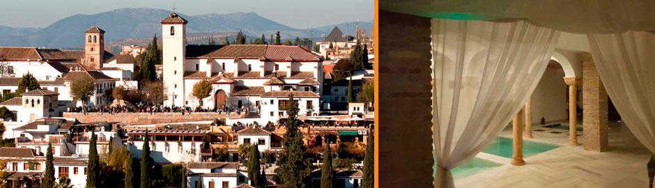 Baño Arabe Hammam Granada:Visita al Albaicín y Baño Árabe Hammam de Granada