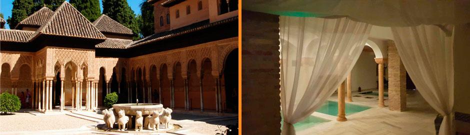 Baño Arabe Hammam Granada:Visita a la Alhambra más Baños Árabes Hammam